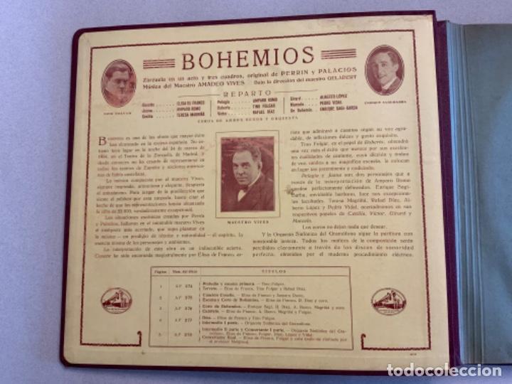 Discos de pizarra: BOHEMIOS. AMADEO VIVES. - Foto 2 - 215095165