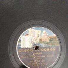 Discos de pizarra: DISCO DE PIZARRA DE 78RPM. SALUD RUIZ/TANGO APACHE/WAYA WAIS.. Lote 215160433