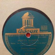 Dischi in gommalacca: JUANITO SEGARRA PIZARRA 78 RPM SELLO ODEÓN PONTE BONITA Y HASTA QUE YO NO TE BESE.... Lote 215327411