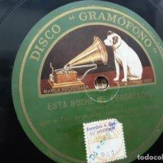 Discos de pizarra: DISCO PIZARRA, TRIO ARGENTINO IRUSTA, FUGAZOT, DEMARE, ESTA NOCHE ME EMBORRACHO + SUPLICAS. Lote 215529052