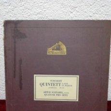 Dischi in gommalacca: SCHUBERT QUINTETT. A-DUR LA MAJAEUR. OP. 114.. HIS MASTER'S VOICE. INCLUYE 5 DISCOS.. Lote 216469861
