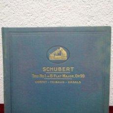Dischi in gommalacca: SCHUBERT TRIO N° 1 IN B FLAT MAJOR, OP. 99. HIS MASTER'S VOICE. INCLUYE 4 DISCOS.. Lote 216470302