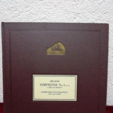 Dischi in gommalacca: BRAHAMS SYMPHONIE N° 4 E-MOLL/MI MINEUR, OP. 98. HIS MASTER'S VOICE. INCLUYE 6 DISCOS.. Lote 216471108