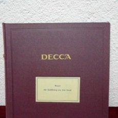 Dischi in gommalacca: MOZART DIE ENTFUHRUNG AUS DEM SERAIL. DECCA. INCLUYE 6 DISCOS. DEL 1 AL 12. Lote 231909025