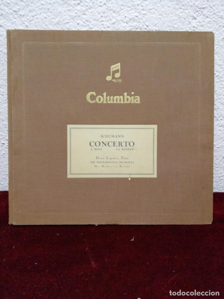 SCHUMANN CONCERTO A MOLL LA MINEUR. COLUMBIA. INCLUYE 4 DISCOS. (Música - Discos - Pizarra - Clásica, Ópera, Zarzuela y Marchas)