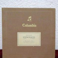 Discos de pizarra: SCHUMANN CONCERTO A MOLL LA MINEUR. COLUMBIA. INCLUYE 4 DISCOS.. Lote 216476498