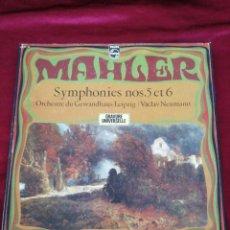 Discos de pizarra: MAHLER. SYMPHONIES N° 5 Y 6. PHILIPS. CONTIENE 3 DISCO MAS FOLLETO.. Lote 216604206