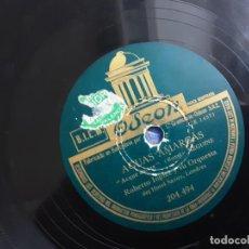 Discos de pizarra: DISCO PIZARRA, ROBERTO INGLEZ, AGUAS AMARGAS + LA SAMBA ES ASI. Lote 216675353