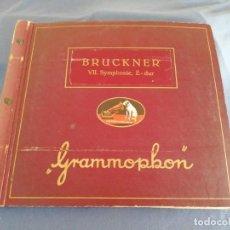 Dischi in gommalacca: BRUCKNER VII SYMPHONIE, E-DUR. GRAMMOPHON. CONTIENE 7 DISCOS.. Lote 217010817