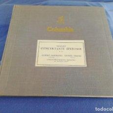 Discos de pizarra: MOZART CONCERTANTE SINFONIE. K. 364. ALBERT SAMMINS/LIONEL TERTIS. COLUMBIA. CONTIENE 4 DISCOS.. Lote 217011382