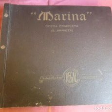 Dischi in gommalacca: MARINA.OPERA COMPLETA.REGAL 12 DISCOS PIZARRA IMPECABLES.. Lote 217019410
