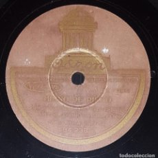 Discos de pizarra: DISCO 78 RPM - ODEON - MARCOS REDONDO - HIMNO DE RIEGO - LA MARSELLESA - CORO - BANDA - PIZARRA. Lote 217685156