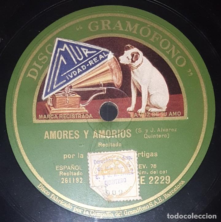 DISCO 78 RPM - GRAMOFONO - JOSEFINA DIAZ ARTIGAS - EL GENIO ALEGRE - RECITADO - ESPAÑOL - PIZARRA (Música - Discos - Pizarra - Otros estilos)