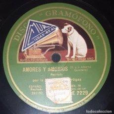Discos de pizarra: DISCO 78 RPM - GRAMOFONO - JOSEFINA DIAZ ARTIGAS - EL GENIO ALEGRE - RECITADO - ESPAÑOL - PIZARRA. Lote 217692158