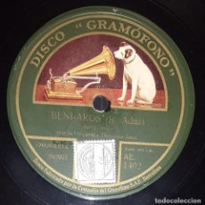 Discos de pizarra: DISCO 78 RPM - GRAMOFONO - ORQUESTA DEMONS JAZZ - BENI AROS - ADUA - OYE, TU - WORSLEY - PIZARRA. Lote 217804445