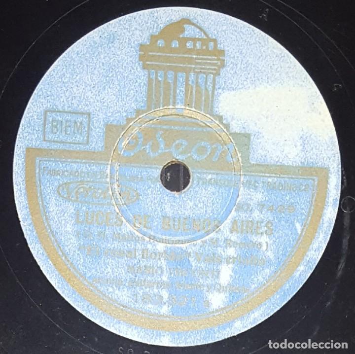 DISCO 78 RPM - ODEON - MARIO VISCONTI - LUCES DE BUENOS AIRES - SON CUBANO - TANGO - PIZARRA (Música - Discos - Pizarra - Solistas Melódicos y Bailables)