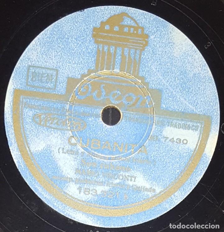 Discos de pizarra: DISCO 78 RPM - ODEON - MARIO VISCONTI - LUCES DE BUENOS AIRES - SON CUBANO - TANGO - PIZARRA - Foto 2 - 217892281