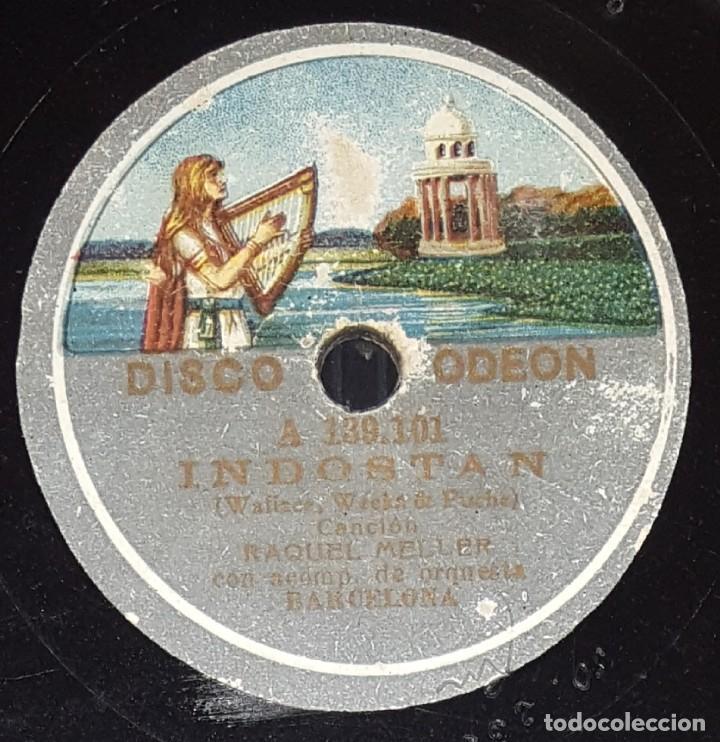 DISCO 78 RPM - ODEON - RAQUEL MELLER - INDOSTAN - LOS LOBOS - CANCION - PIZARRA (Música - Discos - Pizarra - Flamenco, Canción española y Cuplé)