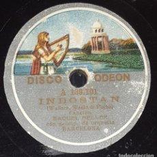 Discos de pizarra: DISCO 78 RPM - ODEON - RAQUEL MELLER - INDOSTAN - LOS LOBOS - CANCION - PIZARRA. Lote 217893691