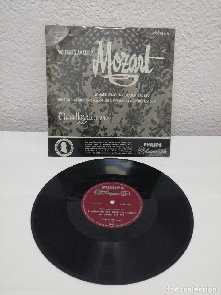 WOLFGANG AMADEUS MOZART. SONATA N° 10 IN C MAJOR/8 VARIATIONS IN D MAJOR ON A MINUET. PHILIPS (Música - Discos - Pizarra - Clásica, Ópera, Zarzuela y Marchas)