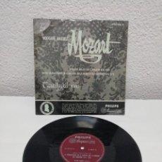 Discos de pizarra: WOLFGANG AMADEUS MOZART. SONATA N° 10 IN C MAJOR/8 VARIATIONS IN D MAJOR ON A MINUET. PHILIPS. Lote 217913453
