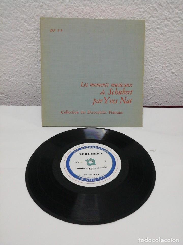 LES MOMENTS MUSICAUX DE SCHUBERT PAR YVES NAT. COLLECTION DES DISCOPHILES FRANÇAIS. (Música - Discos - Pizarra - Clásica, Ópera, Zarzuela y Marchas)