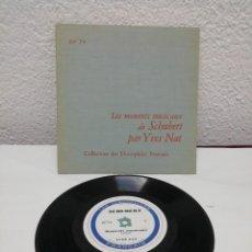 Discos de pizarra: LES MOMENTS MUSICAUX DE SCHUBERT PAR YVES NAT. COLLECTION DES DISCOPHILES FRANÇAIS.. Lote 217913922