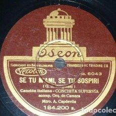 Discos de pizarra: DISCO 78 RPM - ODEON - CONCHITA SUPERVIA - ORQUESTA - CANCION DEL PAJE - RARO - OPERA - PIZARRA. Lote 218027908