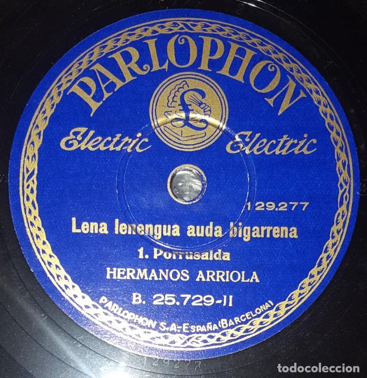 Discos de pizarra: DISCO 78 RPM - PARLOPHON - LAUREADA BANDA TXISTULARIS VITORIANOS - HERMANOS ARRIOLA - PIZARRA - Foto 2 - 218073701