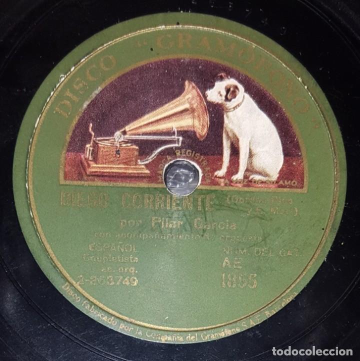 Discos de pizarra: DISCO 78 RPM - GRAMOFONO - PILAR GARCIA - ORQUESTA - DIEGO CORRIENTE - LA HEROINA - PIZARRA - Foto 2 - 218075040