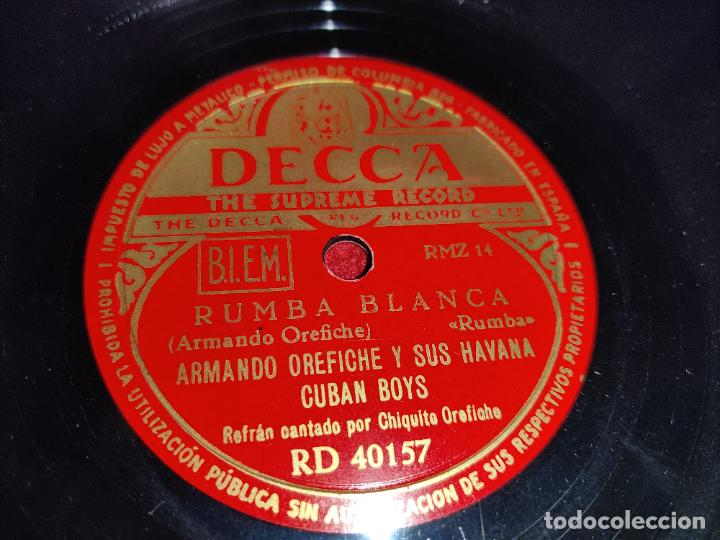 ARMANDO OREFICHE&HAVANA CUBAN BOYS RUMBA BLANCA/ALMENDRA 10 25 CTMS DECCA RD40157 SPAIN (Música - Discos - Pizarra - Solistas Melódicos y Bailables)