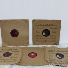 Disques en gomme-laque: DISCOS DE PIZARRA. Lote 218571252
