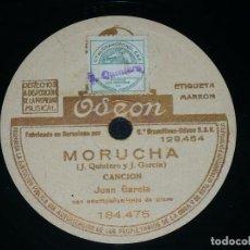 Discos de pizarra: DISCO 78 RPM - ODEON - JUAN GARCIA - PIANO - MORUCHA - A MI MADRE - OPERA - QUINTERO - PIZARRA. Lote 218630880