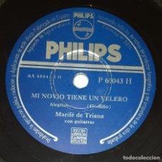 Discos de pizarra: DISCO 78 RPM - PHILIPS - MARIFE DE TRIANA - GUITARRA - FRASQUITA ROMERO - RUMBA - ALEGRIAS - PIZARRA. Lote 218668688