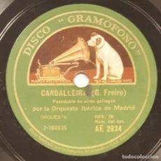 Discos de pizarra: DISCO 78 RPM - GRAMOFONO MUESTRA - ORQUESTA IBERICA MADRID - CARBALLEIRA - SARDANA - GARIN - PIZARRA. Lote 218784682