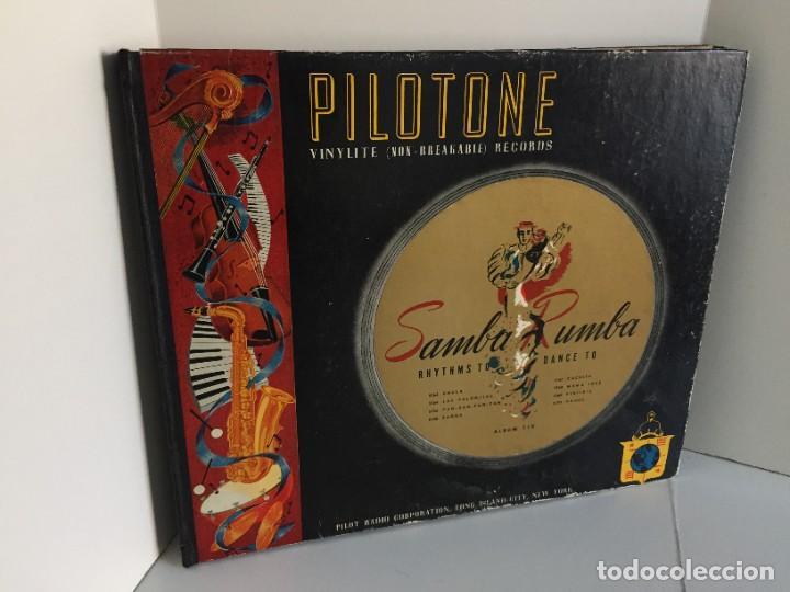 PILOTONE. VINYLITE (NON-BREAKABLE) RECORDS. SAMBA AND RUMBA. RHYTHMS TO, DANCE TO. CHULA. CHACHITA. (Música - Discos - Pizarra - Solistas Melódicos y Bailables)