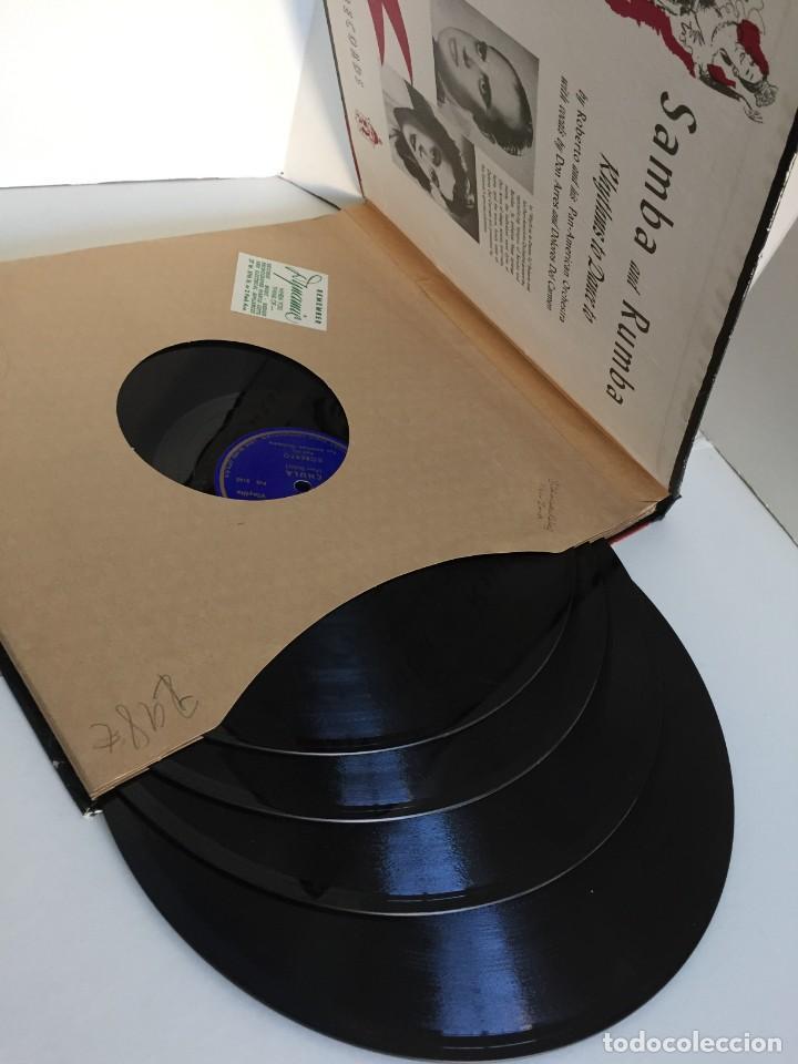 Discos de pizarra: PILOTONE. VINYLITE (NON-BREAKABLE) RECORDS. SAMBA AND RUMBA. RHYTHMS TO, DANCE TO. CHULA. CHACHITA. - Foto 6 - 219056868