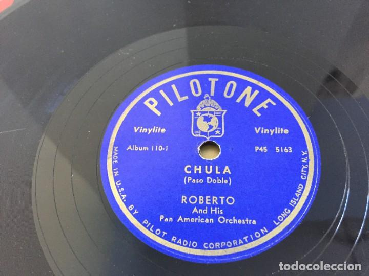 Discos de pizarra: PILOTONE. VINYLITE (NON-BREAKABLE) RECORDS. SAMBA AND RUMBA. RHYTHMS TO, DANCE TO. CHULA. CHACHITA. - Foto 8 - 219056868