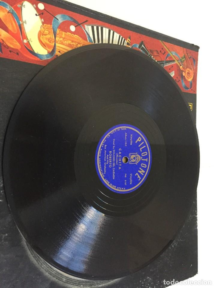 Discos de pizarra: PILOTONE. VINYLITE (NON-BREAKABLE) RECORDS. SAMBA AND RUMBA. RHYTHMS TO, DANCE TO. CHULA. CHACHITA. - Foto 9 - 219056868