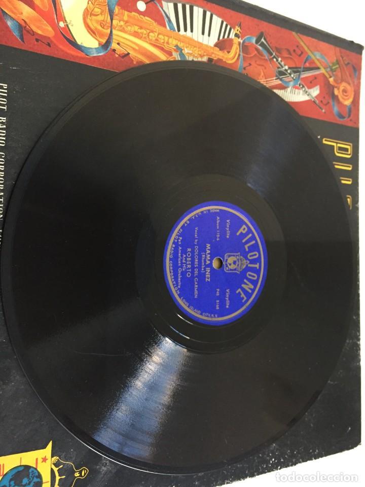 Discos de pizarra: PILOTONE. VINYLITE (NON-BREAKABLE) RECORDS. SAMBA AND RUMBA. RHYTHMS TO, DANCE TO. CHULA. CHACHITA. - Foto 11 - 219056868