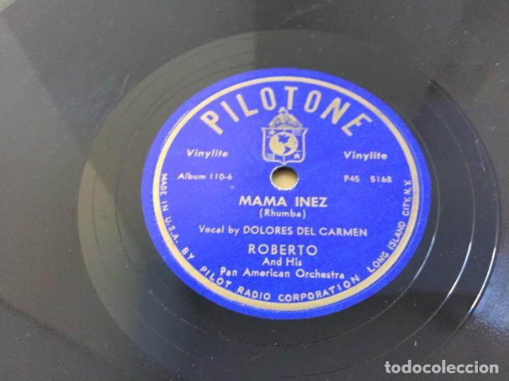 Discos de pizarra: PILOTONE. VINYLITE (NON-BREAKABLE) RECORDS. SAMBA AND RUMBA. RHYTHMS TO, DANCE TO. CHULA. CHACHITA. - Foto 12 - 219056868