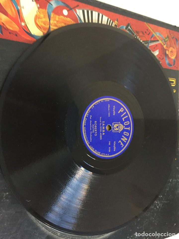 Discos de pizarra: PILOTONE. VINYLITE (NON-BREAKABLE) RECORDS. SAMBA AND RUMBA. RHYTHMS TO, DANCE TO. CHULA. CHACHITA. - Foto 13 - 219056868
