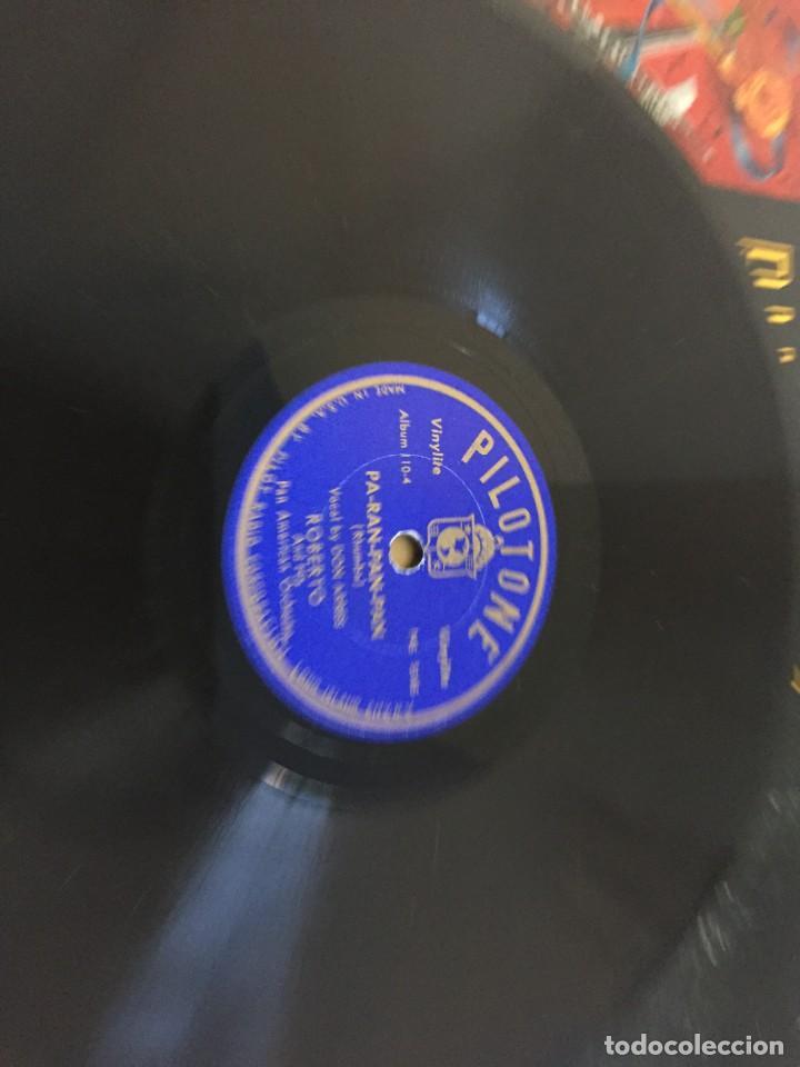 Discos de pizarra: PILOTONE. VINYLITE (NON-BREAKABLE) RECORDS. SAMBA AND RUMBA. RHYTHMS TO, DANCE TO. CHULA. CHACHITA. - Foto 15 - 219056868