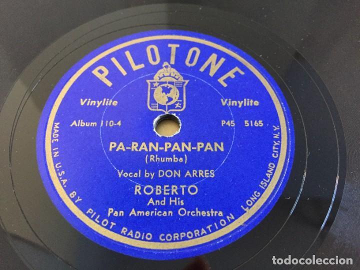 Discos de pizarra: PILOTONE. VINYLITE (NON-BREAKABLE) RECORDS. SAMBA AND RUMBA. RHYTHMS TO, DANCE TO. CHULA. CHACHITA. - Foto 16 - 219056868