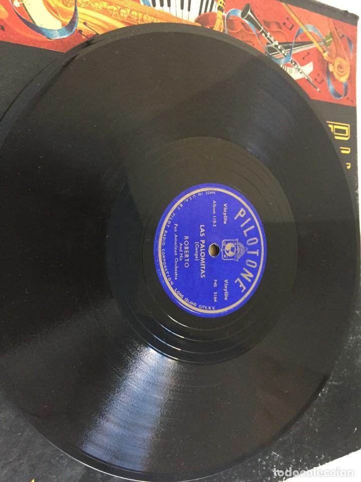 Discos de pizarra: PILOTONE. VINYLITE (NON-BREAKABLE) RECORDS. SAMBA AND RUMBA. RHYTHMS TO, DANCE TO. CHULA. CHACHITA. - Foto 17 - 219056868
