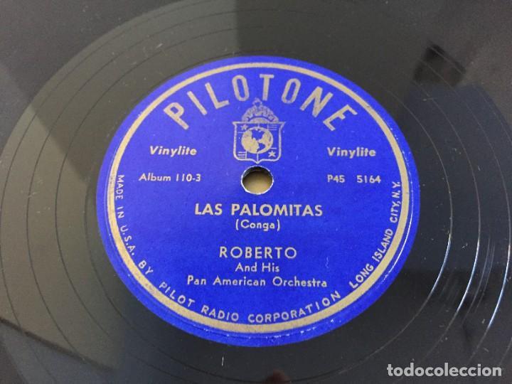 Discos de pizarra: PILOTONE. VINYLITE (NON-BREAKABLE) RECORDS. SAMBA AND RUMBA. RHYTHMS TO, DANCE TO. CHULA. CHACHITA. - Foto 18 - 219056868