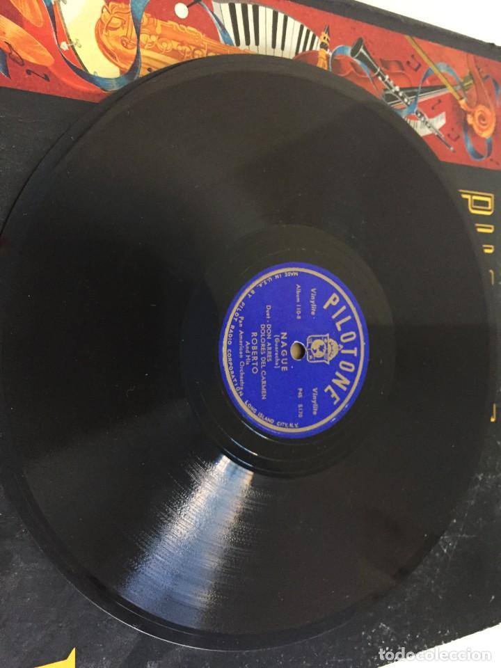 Discos de pizarra: PILOTONE. VINYLITE (NON-BREAKABLE) RECORDS. SAMBA AND RUMBA. RHYTHMS TO, DANCE TO. CHULA. CHACHITA. - Foto 19 - 219056868