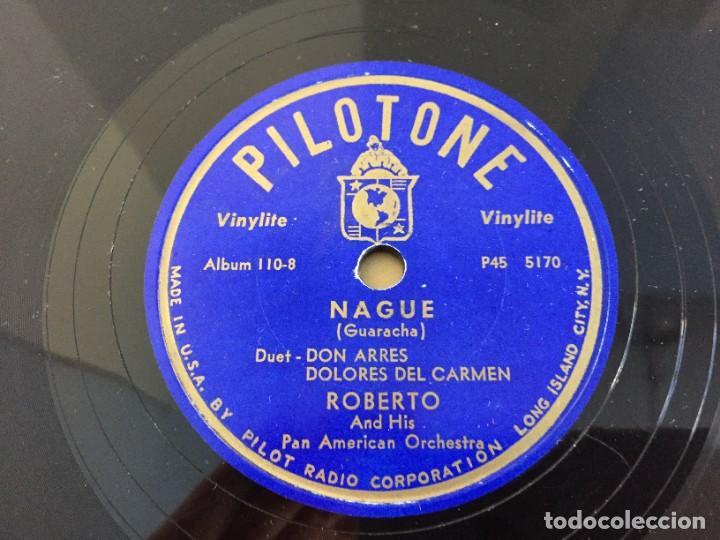 Discos de pizarra: PILOTONE. VINYLITE (NON-BREAKABLE) RECORDS. SAMBA AND RUMBA. RHYTHMS TO, DANCE TO. CHULA. CHACHITA. - Foto 20 - 219056868