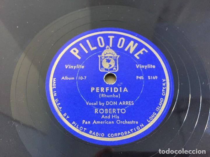 Discos de pizarra: PILOTONE. VINYLITE (NON-BREAKABLE) RECORDS. SAMBA AND RUMBA. RHYTHMS TO, DANCE TO. CHULA. CHACHITA. - Foto 22 - 219056868