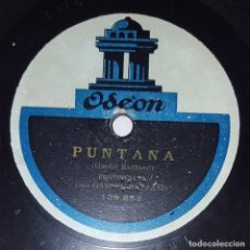 Discos de pizarra: DISCO 78 RPM - ODEON - GARDEL - RAZZANO - PUNTANA - MI NOCHE TRISTE - TANGO - PROVINCIANA - PIZARRA. Lote 219058261
